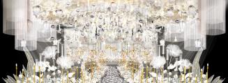 《纯恋》-白室内梦幻婚礼照片