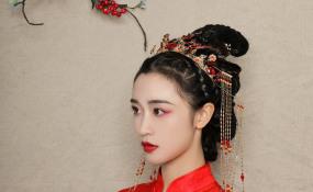 中式新娘真假发结合拍摄花絮 案例图片