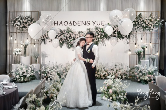 十年-白室内韩式婚礼照片