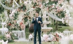 世纪城洲际-优雅、欢快的户外婚礼婚礼图片