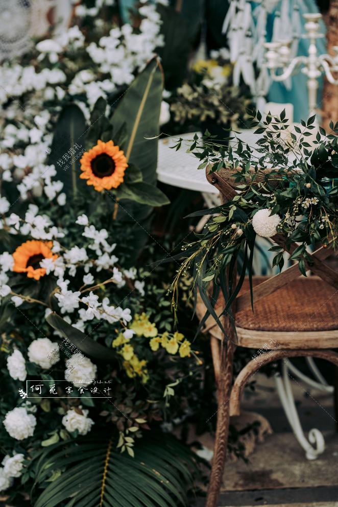 向日葵-白户外唯美婚礼照片