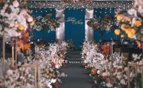 红杏酒家锦华店停车场-藏蓝与橘红婚礼图片