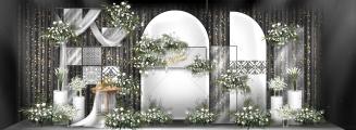 简约摩洛哥丨清新白绿-绿室内小清新婚礼照片
